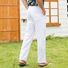 men summer pants,white pants,summer pants for men,beach pants,white linen pants for men,mens pants
