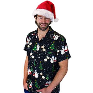 Christmas X-Mas Santa Claus Men Hawaiian Shirt Christmas-Theme-Party