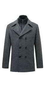 mens wool pea coat