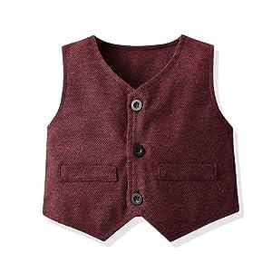 button-down vest