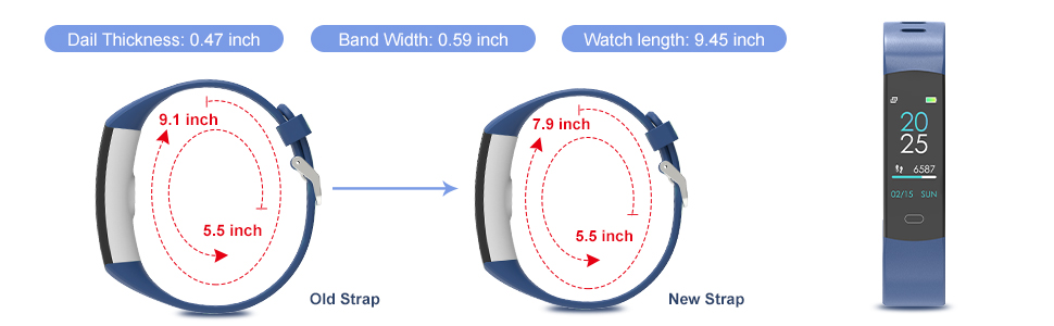 New Size Of Fitness Tracker