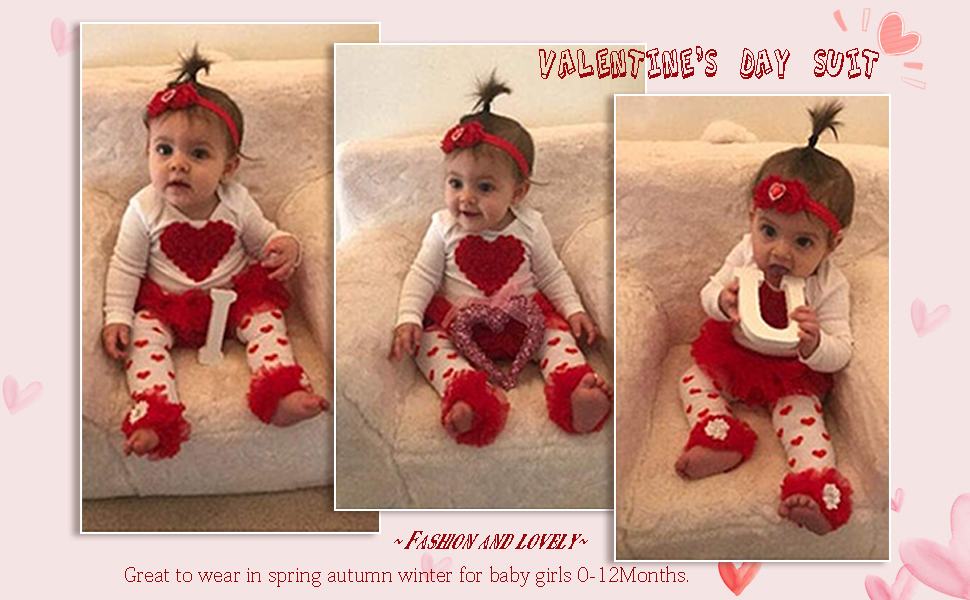 My First Valentines baby girl outfit
