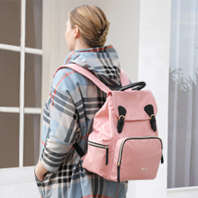 Hafmall Pink Diaper Bag Backpack