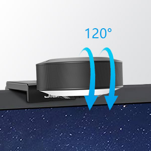 Flexible 120° horizontal rotation