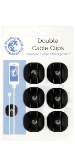 double cable clip