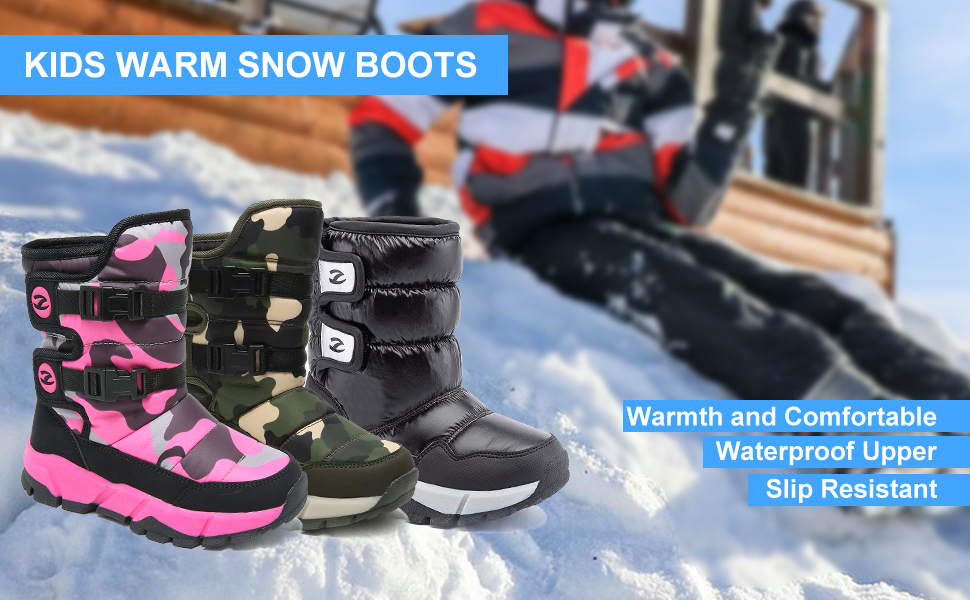 KIDS WARM SNOW BOOTS