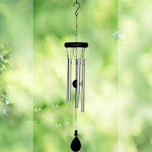 AshmanOnline 20 inch Large Deep Tone Sympathy Wind Chimes with 5 Copper Vein Tubes