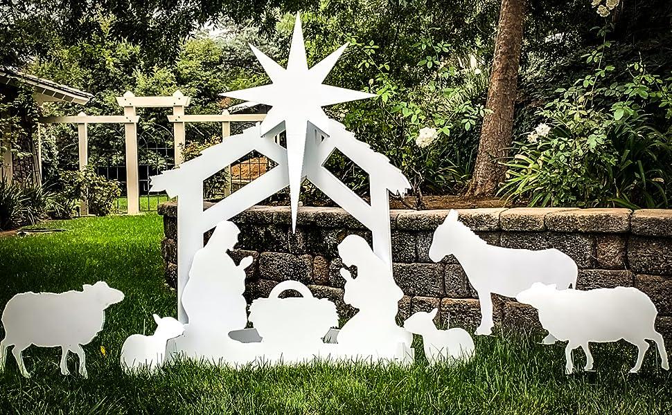 Nativity Scene Yard Display