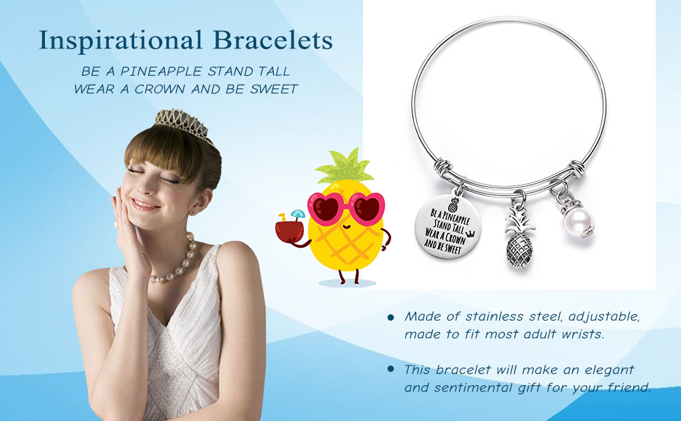Macrame Friendship Boho Be a Pineapple Minimalist Hand Made Pineapple Bracelet