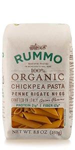 Organic Lentil Vegan Chickpea Penne Rigate Pasta