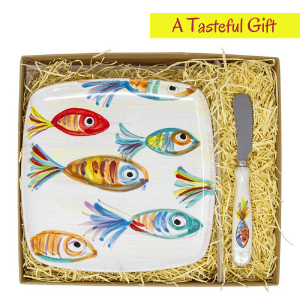 vietri italy pesce colorati fish color rainbow ceramic dinnerware tableware kitchen table platter
