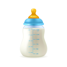 Bottle reading for thermometer for babies