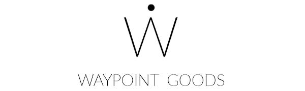 waypoint goods logo design