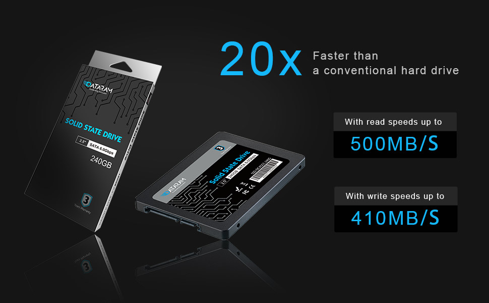 DATARAM 240GB 2.5 SSD Drive Solid State Drive Compatible with GIGABYTE GA-Z170M-D3H