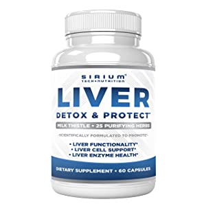 detox cleanse liver and support pills repair health supplement silymarin milk thistle vitamin care
