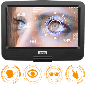 portable dvd player with swivel screen Eye-protective HD screens