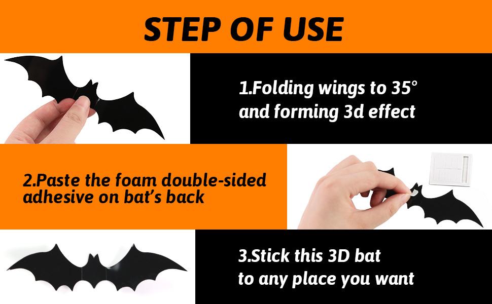 3d bat wall decal