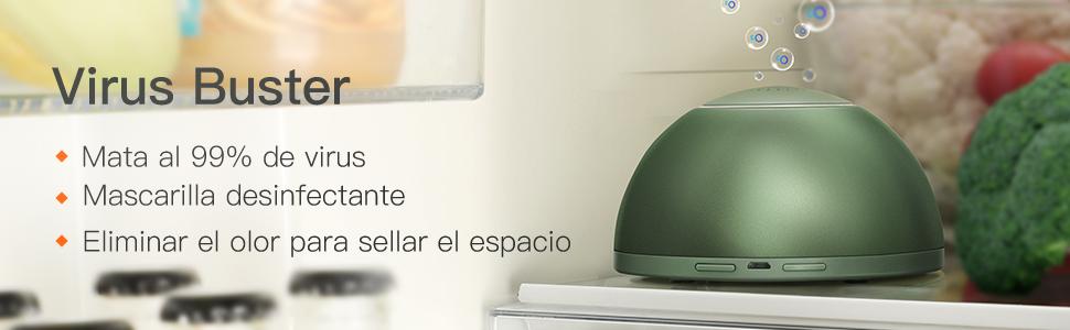 GX·Diffueser Mini Generador de Ozono portátil purificador de Aire USB recargeable esterilizador de ozono para Frigorífico: Amazon.es: Hogar