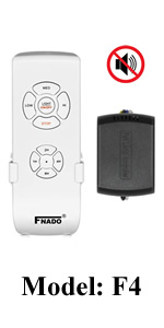 Universal Lamp Kit /& Timing Wireless Ceiling Fan Remote Control for Hunter//Harbor Breeze Honeywell//Other Ceiling Fan FNADO F5 Learning Code//Mute Button