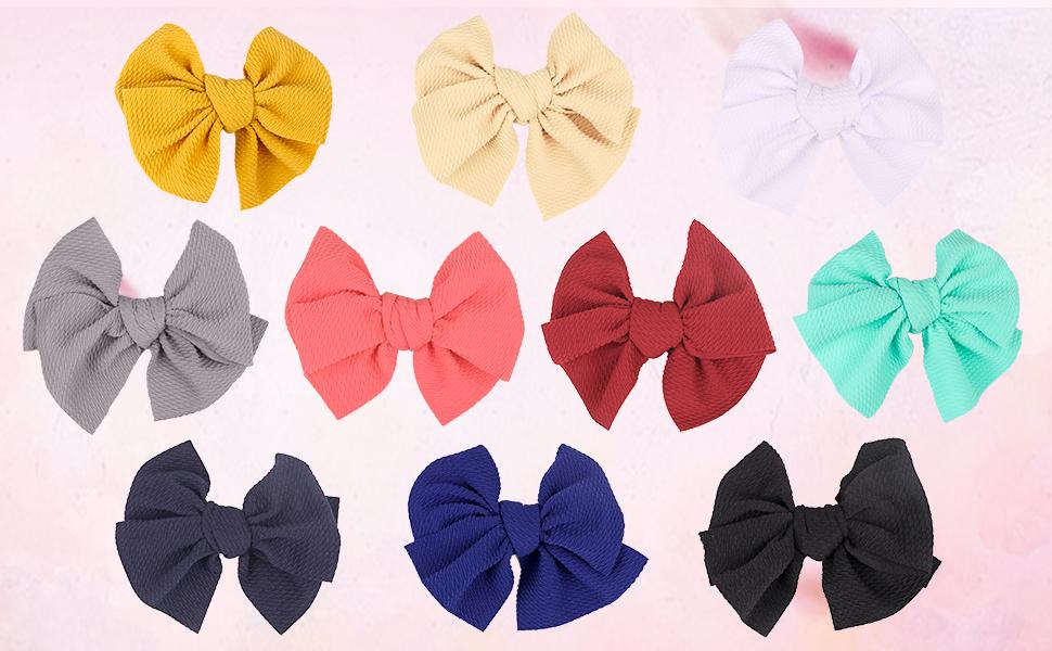 XIMA 25pcs 6inch big Ribbon Bows Hair Bow with Soft Headband Baby Headband Ha...
