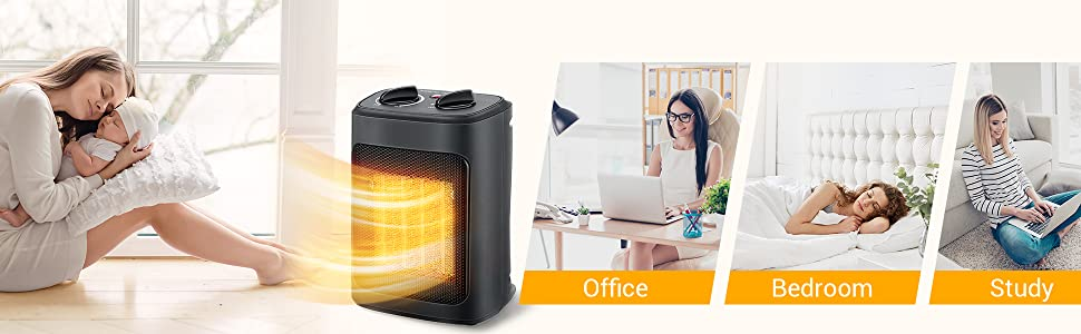 space heater for office bedroom study home
