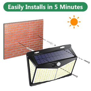 Solar lights for shed