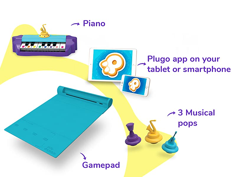 Tunes - Plugo Tunes By PlayShifu - Piano Learning Kit Musical STEAM Toy For Ages 5-10 - Educational Music Instruments Gift For Boys & Girls (App Based)