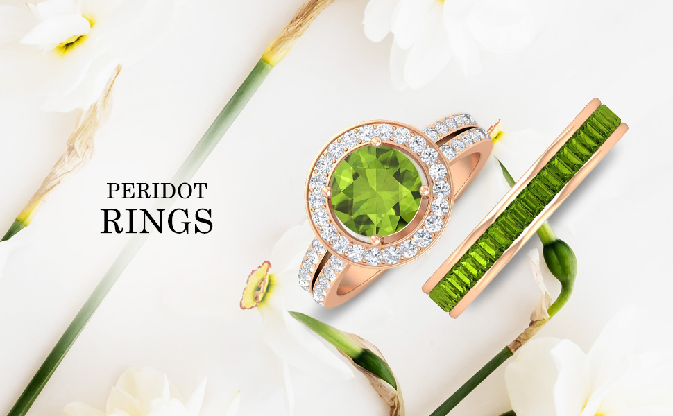 banner Peridot Rings