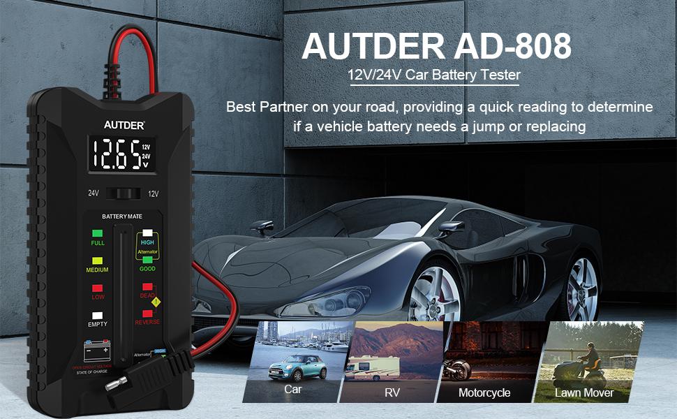 12V 24V Car Battery Tester