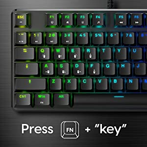 Pulsar Alloy TKL RGB Gaming Keyboard with aircraft grade aluminum alloy board control media