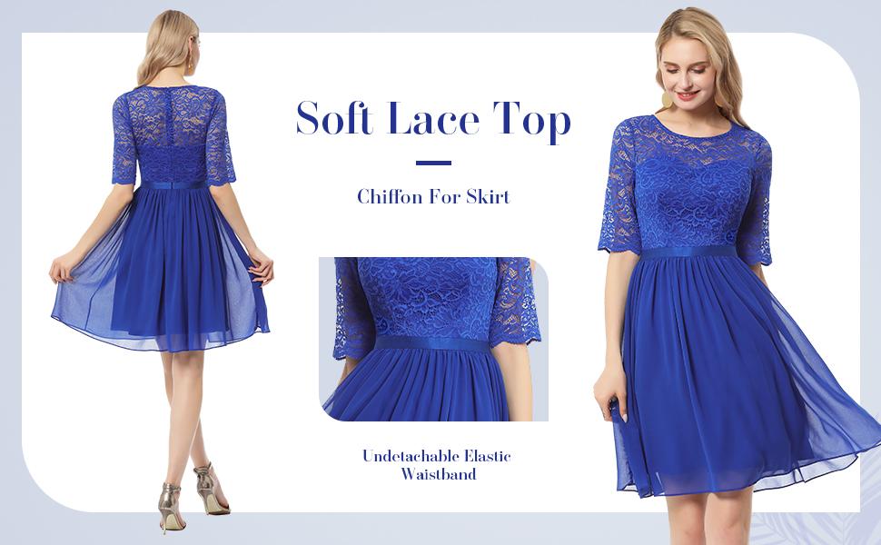 royal blue cocktail dress lace long sleeves dress short bridesmaid dress fancy homecoming dresses