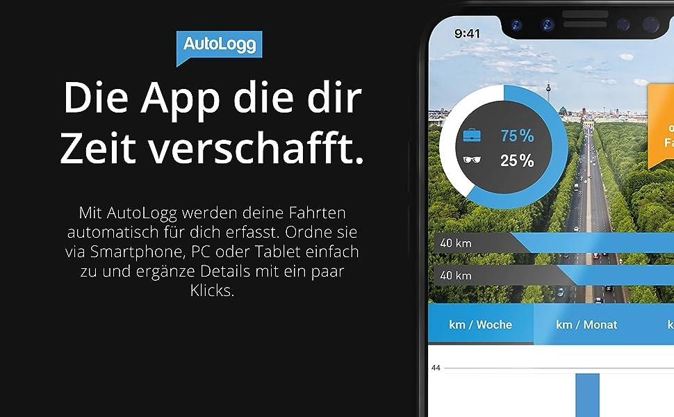 AutoLogg App, Fahrtenbuch, Elektronisches Fahrtenbuch