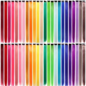 rainbow hair extensions