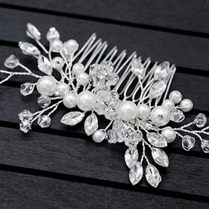 Crystal Spray Flower Hair Accessories Floral Vintage