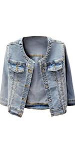 Women's Collarless Denim Jackets