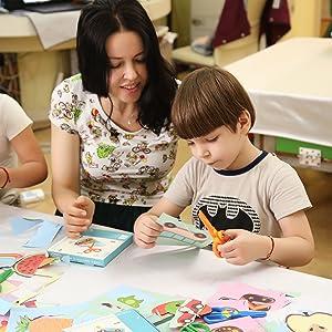 Plastic Scissors Safety For Children Kids School DIY Art Drawing Activities Best
