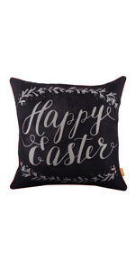 LINKWELL Chalkboard Happy Easter Pillow Cover