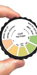 paper quat qt qk qc test strip qac paper testing sanitizer three part sink food safety
