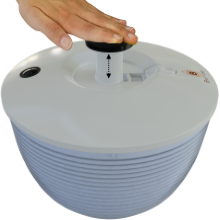 Brieftons QuickDry Salad Spinner - One handed operation