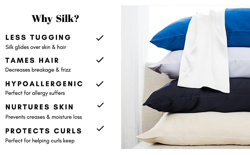 25 mm silk pillowcase for hair silk pillowcase with zipper washable silk pillowcase for curly hair