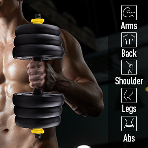 A fit body is always what we want! This dumbbell is suitable for all fitness level.
