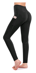 Leggings Damen Hohe Taille Sporthose Fitness mit Taschen Yogahose