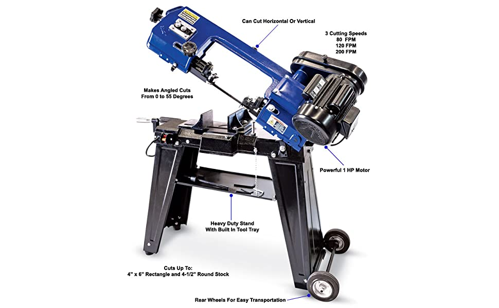 eastwood horizontal vertical saw bench top table stand steel cord plug pro compact motor hp angle