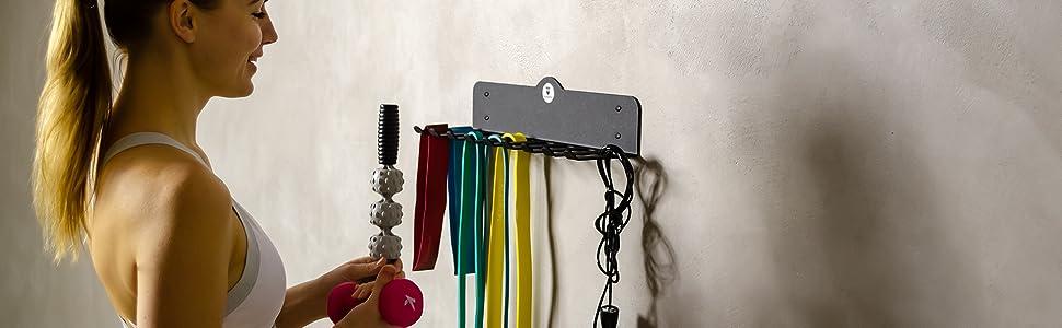 Gym Storage Rack Gym Organizer resistance band rack jump rope rack