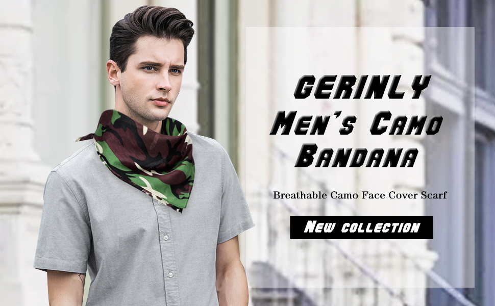 GERINLY MEN'S CAMOFLAGE BANDANA
