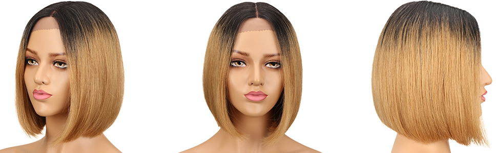 ombre blonde bob wig