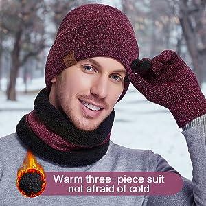 honshangmao German Snow Flecktarn Camo Skull Knit Beanie Hat Cap Ski Hat