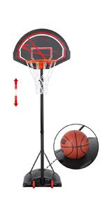 5.6-7.5ft Height-Adjustable Basketball Hoops & Goals