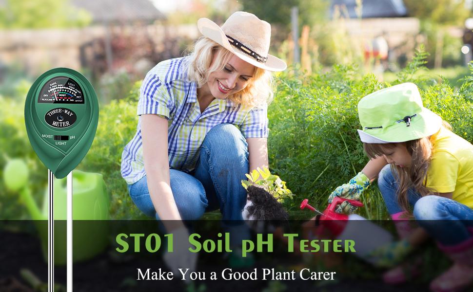 Details about  /Sonkir Soil pH Meter MS02 3-in-1 Moisture//Light//pH Tester Gardening...