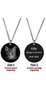round animal personalized photo engraving wedding graduation pet lover laser-engraving wife gift